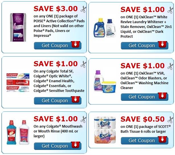coupons-print-Colgate-OxiClean-Viva-Air Wick-Scott-Cottonelle-lrwc
