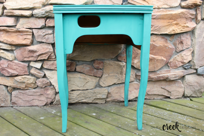 chalk painted sewing tables provence