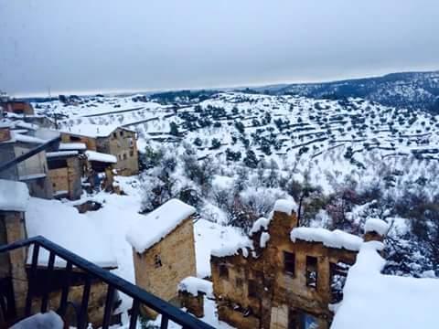 nevada nieve Beceite Beseit febrero 2016