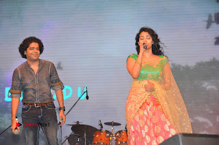 Singer Manisha Eeraini Stills in Half Saree at Nenu Local Audio Launch  0011.JPG