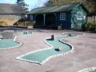 Crazy Golf course at The Glebe in Bowness-on-Windermere