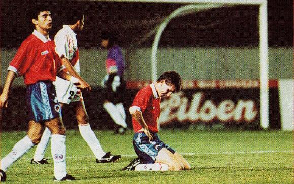 Perú y Chile en partido amistoso, 19 de abril de 1995