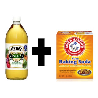 drain unclog vinegar baking soda