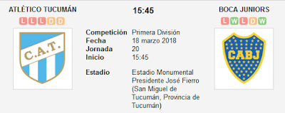 Atlético Tucumán vs Boca Juniors en VIVO