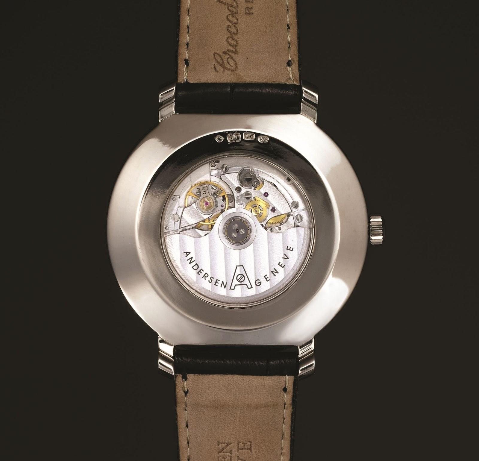 Anderesen Geneve Kamar - Classic Moonphase Watch caseback view