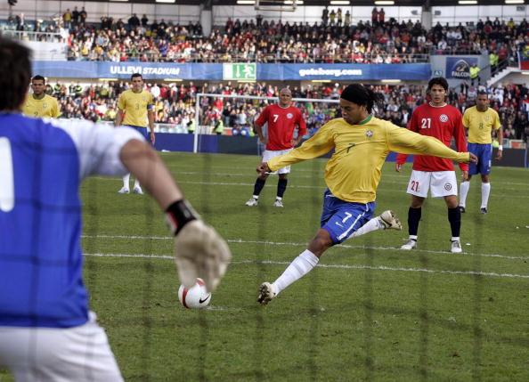 Brasil y Chile en partido amistoso, 24 de marzo de 2007