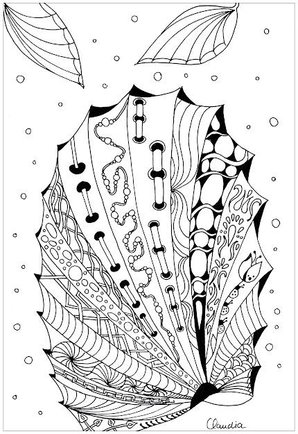Coloringadultzentanglesimplebyclaudia Free To Print