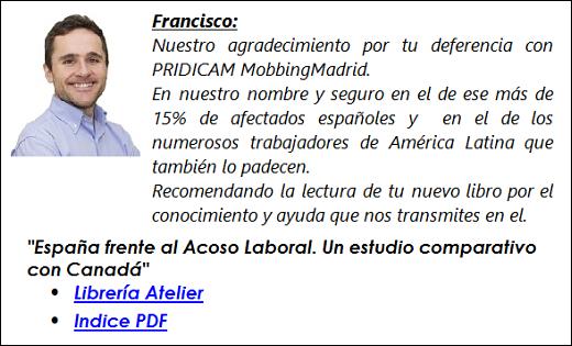 """MobbingMadrid """"España frente al Acoso Laboral. Un estudio comparativo con Canadá"""""""