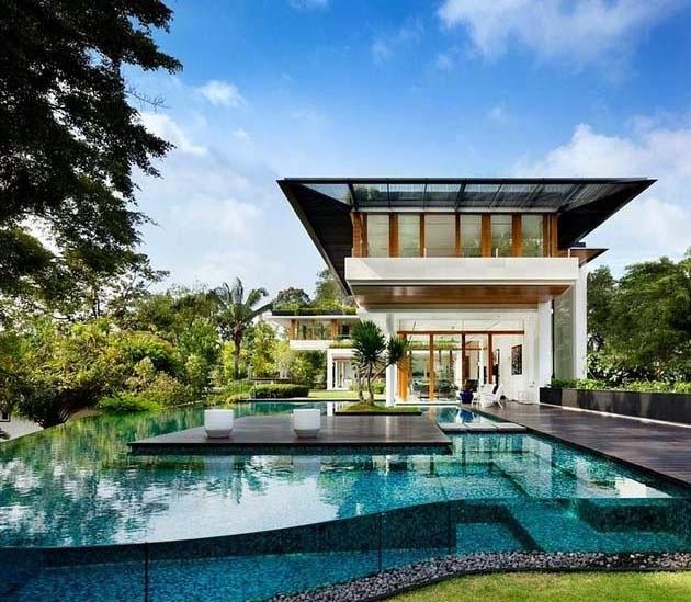 64 Koleksi Desain Rumah Mewah Halaman Luas HD
