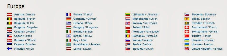 Основные государственные языки стран Европы