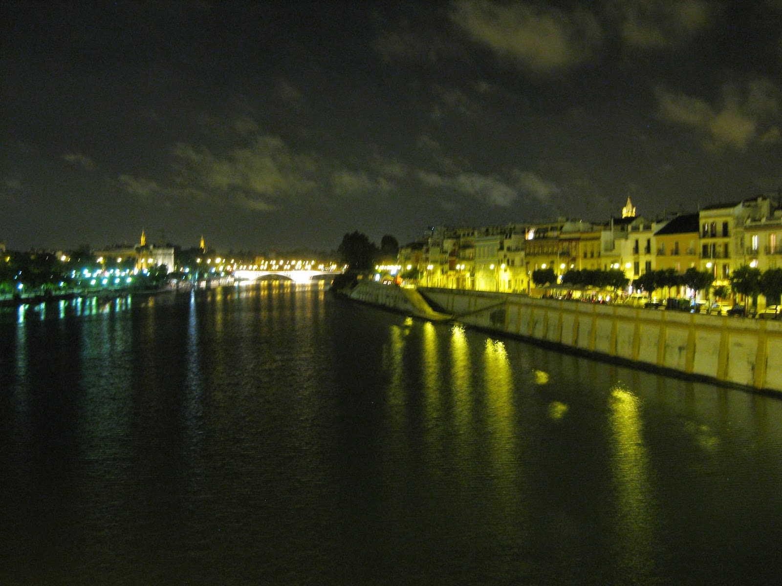 Seville - Night time view of the Triana neighborhood