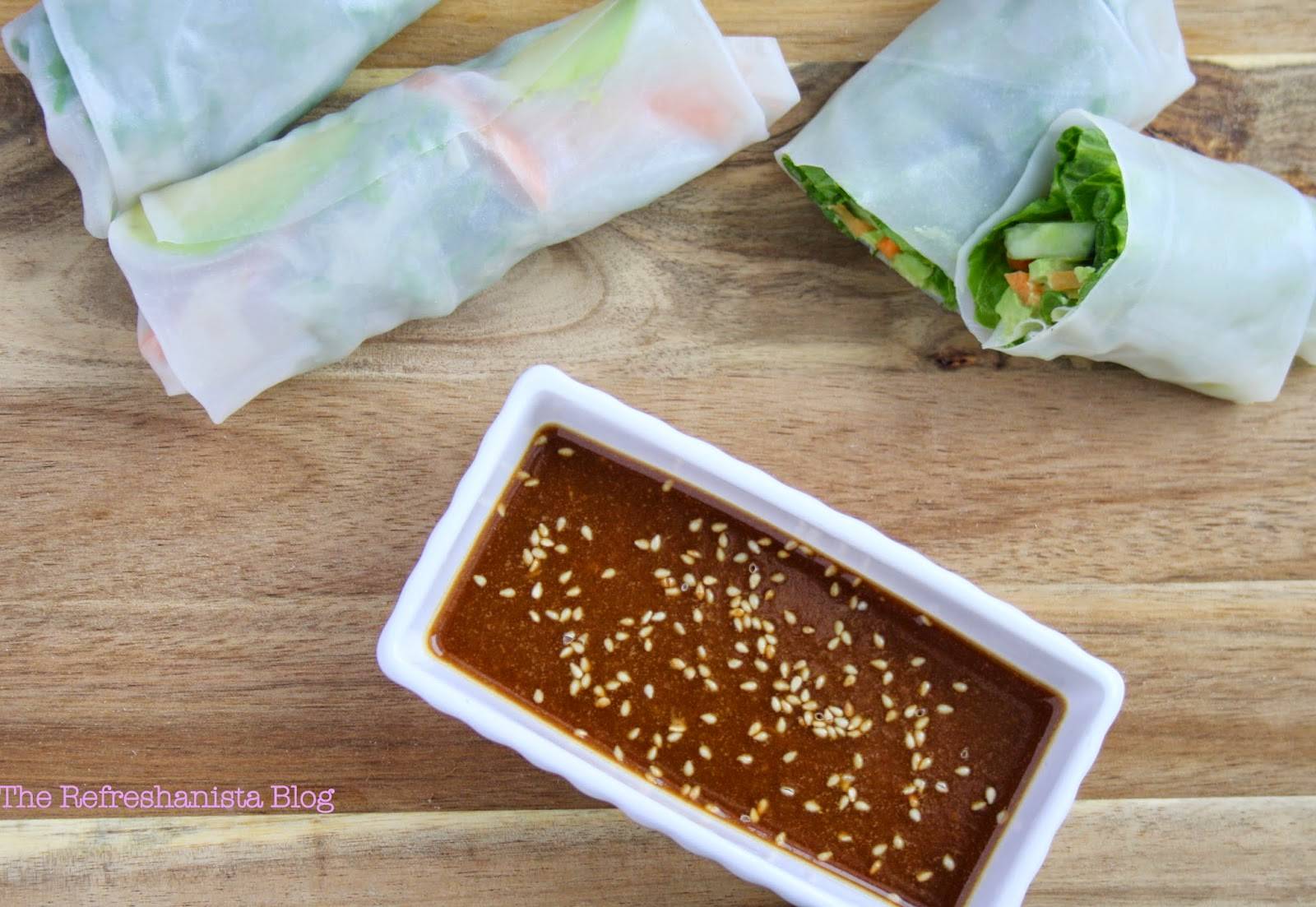 Vegetable Summer Rolls- fresh, simple, and full of veggies! | The Refreshanista Blog