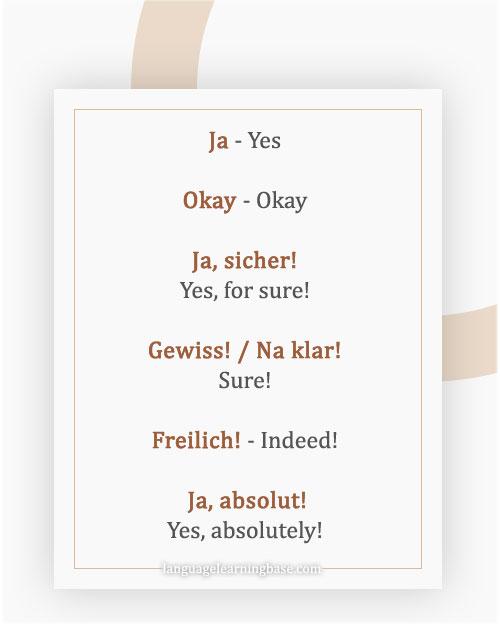 """كيف تقوم كلمة """"نعم"""" بأكثر من 20 طريقة مختلفة في اللغة الألمانية"""