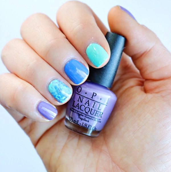 Smooshy Nail Art - OPI Planks a Lot - Tori's Pretty Things Blog