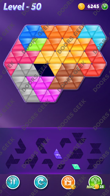 Block! Triangle Puzzle Grandmaster Level 50 Solution, Cheats, Walkthrough for Android, iPhone, iPad and iPod