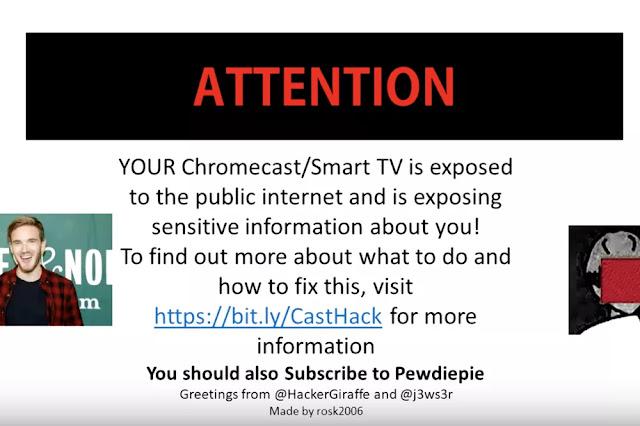 Hacker Retas Chromecast Untuk Promosikan Channel PewDiePie