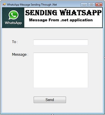 Sending Whatsapp message using C# coding
