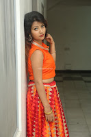 Shubhangi Bant in Orange Lehenga Choli Stunning Beauty ~  Exclusive Celebrities Galleries 033.JPG