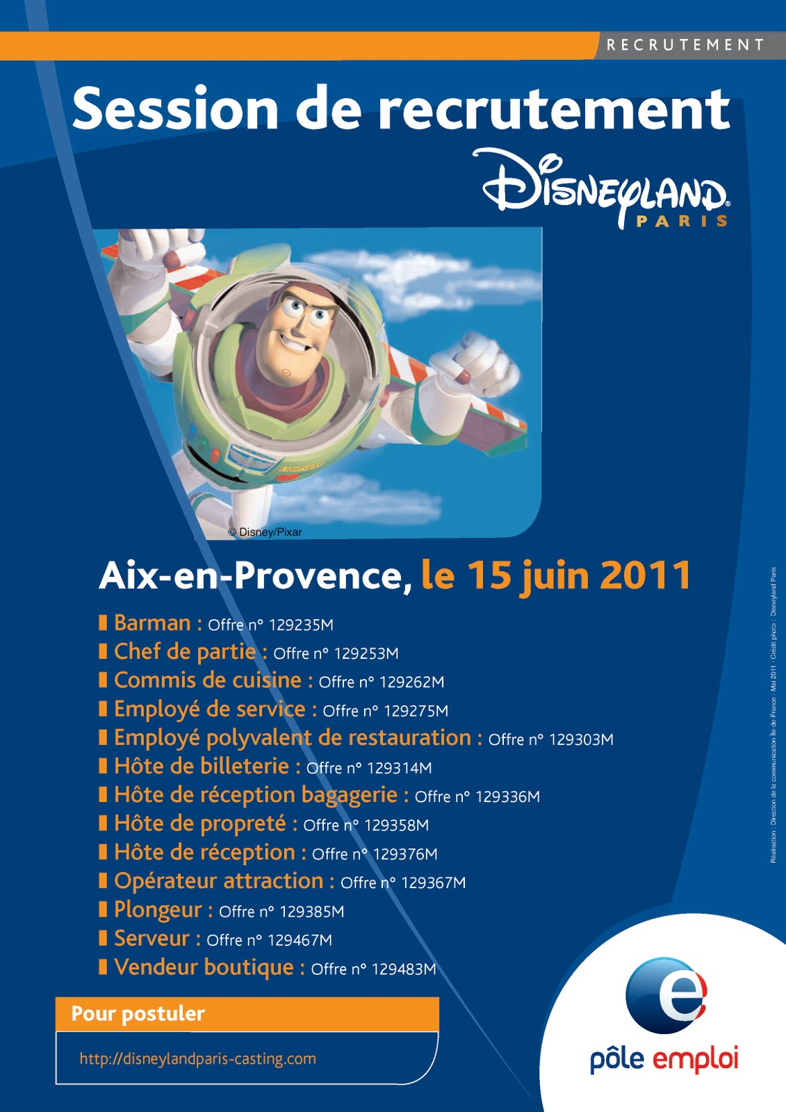 disneyland paris recrute