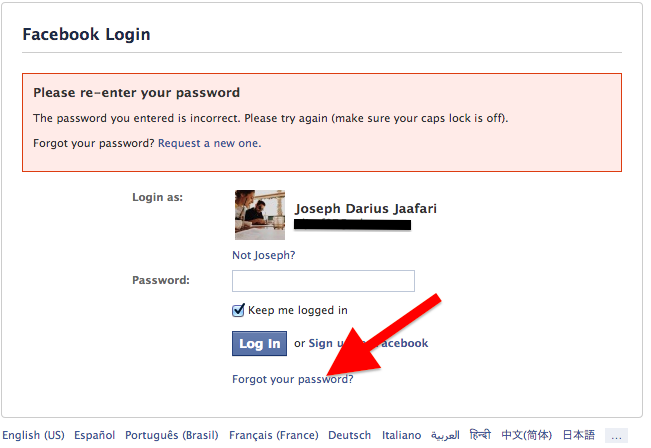 Forgot Your Facebook Password | Can't Login - Facebook Help For You