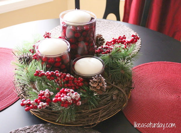 homemade christmas table centerpieces