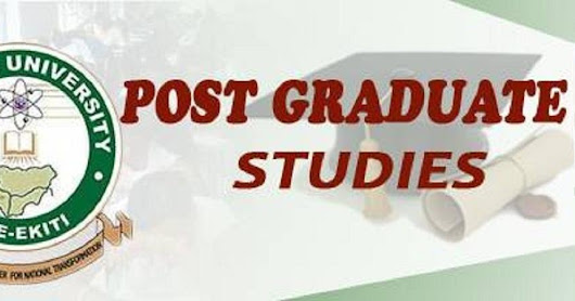 Federal University Oye Ekiti commence sales of Postgraduate form.