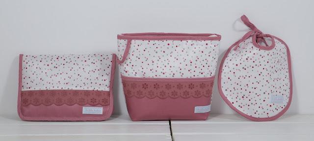 canastilla bebe rosa