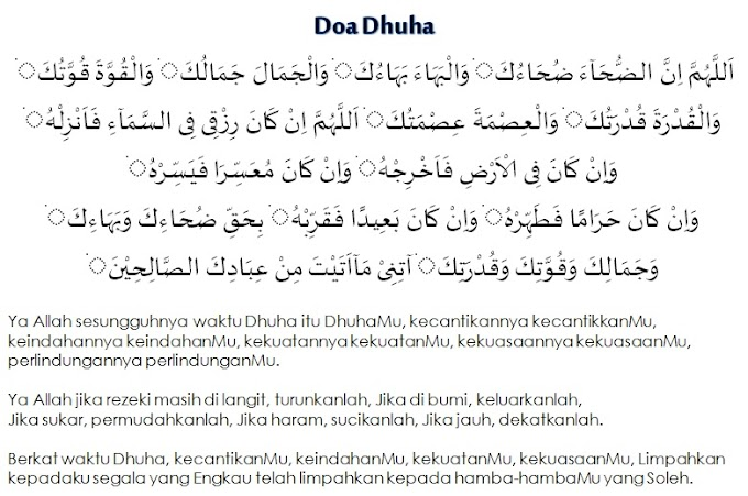 Doa Dhuha Dan Makna Bacaan