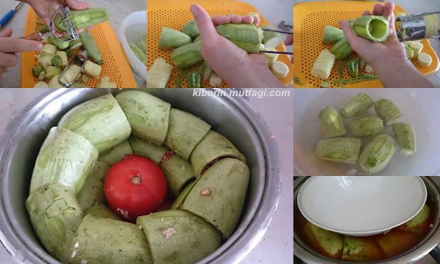 zeytinyağlı taze kabak dolması tarifi kabak dolması yapılışı