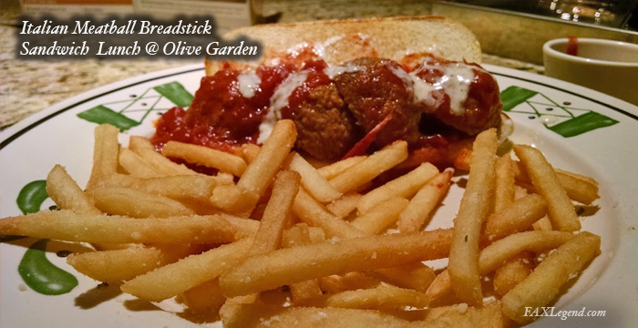 Menu For Olive Garden: Olive Garden's Breadstick Sandwich Lunch Special