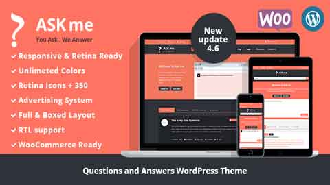 Ask Me v4.6 Questions & Answers WordPress Theme