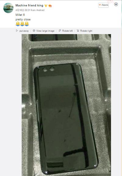 Xiaomi Mi 6 rear cover leak reveals ceramic body, dual rear cameras and  curved edges