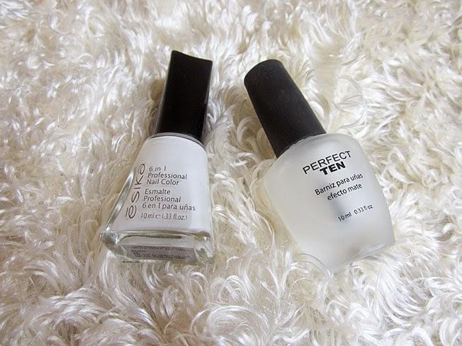 Urbanika Moda: Uñas blancas mate / White nails matte - Unique review