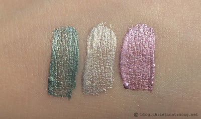 INGLOT Aquastic Cream Eye Shadow collection, review, and swatches. 20, 18, 17