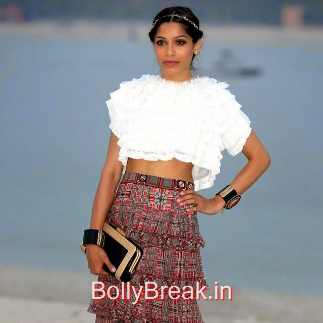 chanel cruise collection 2015 , chanel , freida pinto ,, Hot Pics of Freida Pinto From Latest Events