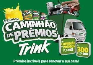 Cadastrar Promoção Trink Caminhão de Prêmios Todo Mês - 300 Reais Por Dia