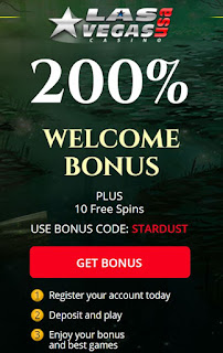 Las Vegas USA casino 200% welcome bonus and 10 free spins