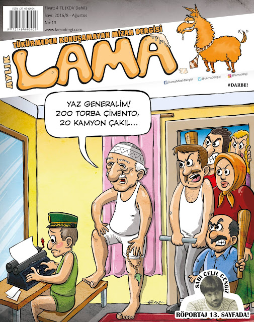 Lama Dergisi - Fethullah Gülen Karikatürü