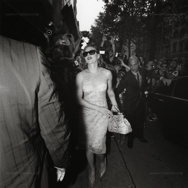 Milan fashion week, Scarlett Johansson, Dolce&Gabbana show.