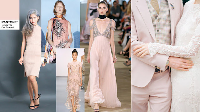 Цвет Pantone 2017 года Pale Dogwood в одежде и интерьере