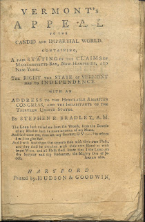 Textual title page to Vermont's Appeal