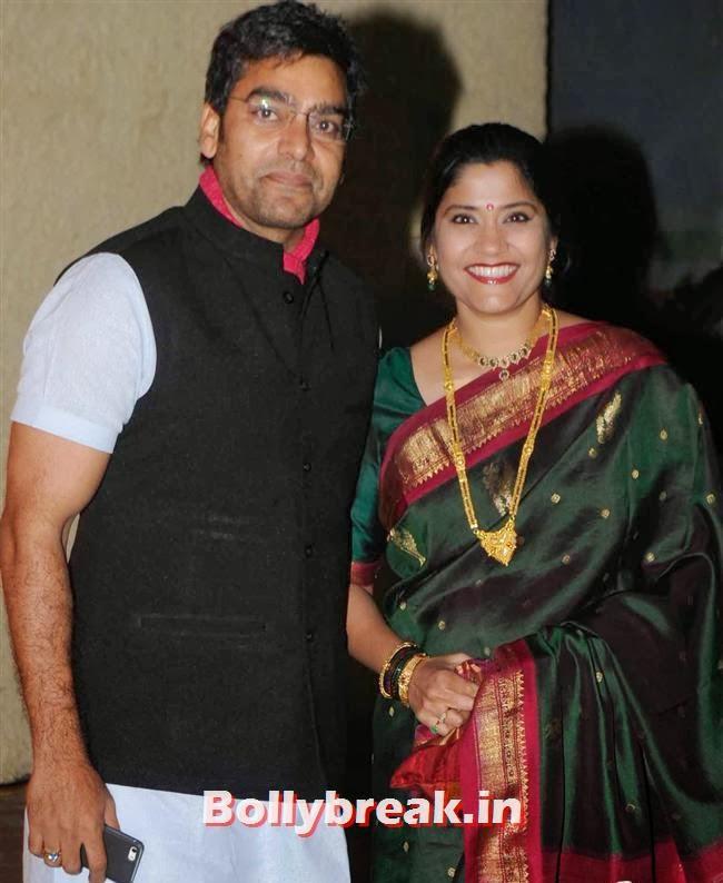 Ashutosh Rana and Renuka Shahane, Bollywood Babes at Vishesh Bhatt Wedding Reception
