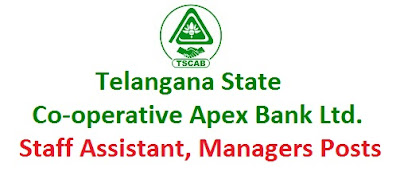 tscab posts, tscab staff assistant, manager posts 2015 recruitment notification, www.tscab.org,telangana state co-operative apex bank ltd,last date, selection procedure, how to apply, online application, qualification, age limit