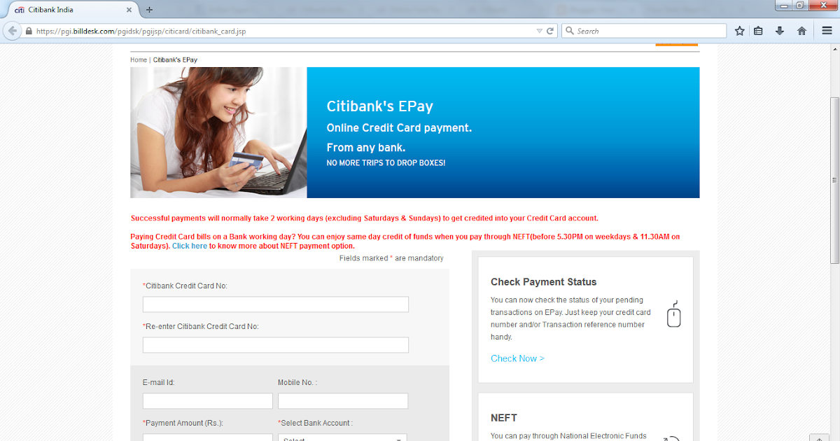 Citibank Credit Card Payment Online >> Your Daily Need Guru How To Pay Citi Bank India Credit Card