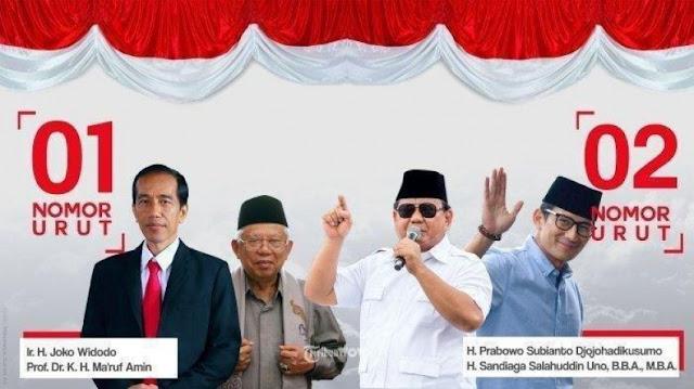 Mengejutkan, Survei Universitas Ibnu Chaldun: Di Jakarta Prabowo-Sandi 80% Vs Jokowi-Ma'ruf 20%