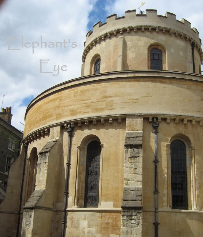 Round Church London from the outside Temple Church