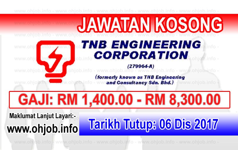 Jawatan Kerja Kosong TNB Engineering Corporation logo www.ohjob.info disember 2017