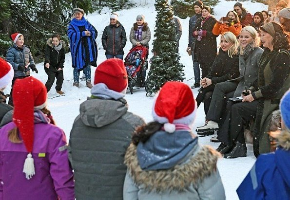"Crown Princess Mette-Marit visited ""Our Neighbourhood"" (Vårt Nabolag) event held at Dikemark Asylum Centre in Asker"