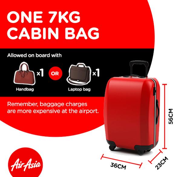 Begini Cara Bawa Bagasi Cukup 7 Kg Saja Boleh Masuk Kabin Penumpang Oleh Airline Air Asia
