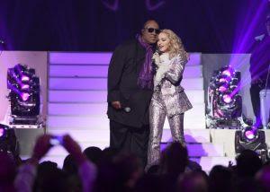Con Madonna en la gala de los Billboard Music Awards en Las Vegas (Mayo 2016)
